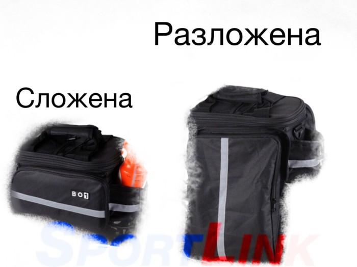 Фото Велосумка на багажник Boi, трансформер, черная