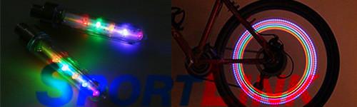 свет 5 диодов на ниппель велосипеда
