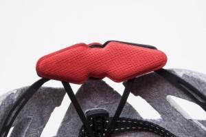 фото Шлем велосипедный Sahoo с солнцезащитным стеклом,  черно-белый