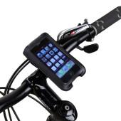 Фото велосипедный держатель для телефона на руль Roswheel кожаный черный размер iPhone 4