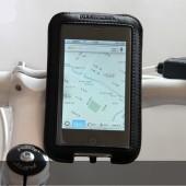 Фото велосипедный держатель для телефона на руль Roswheel кожаный черный