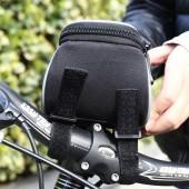 Картинка велосумка на руль с держателем для телефона Roswheel черная
