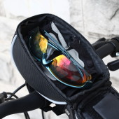 Фото велосумка на руль с держателем для телефона Roswheel черная
