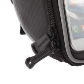 Фото велосумка на руль с держателем для телефона Roswheel черная размер L