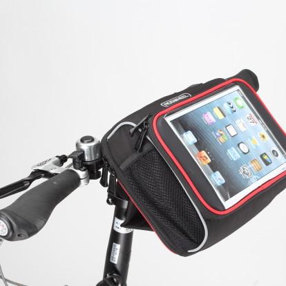 Фото велосумка на руль с держателем для планшета