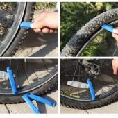 Монтажка для камеры велосипеда пластиковая (черная)