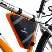 Картинка велосумка под раму Roswheel черно-оранжевая
