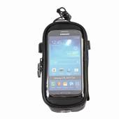 Картинка велосумка на раму с держателем для телефона черная
