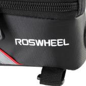Фото велосумка на раму с держателем для телефона до 4,2 дюйма черно-красная