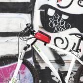 """Фото велосумка на раму с держателем для телефона до 4,8"""" Roswheel красная"""