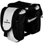 Картинка велосумка на раму мини Roswheel черно-белая