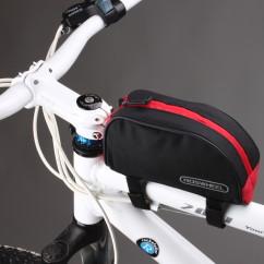 Фото велосумка на раму Roswheel красно-черная