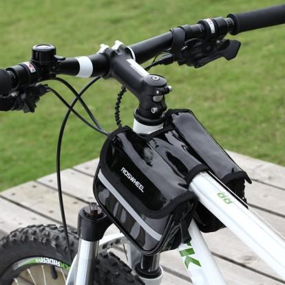 Фото велосумка на раму Roswheel черная