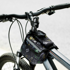 Фото велосумка на раму серая