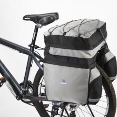 Картинка велосумка-штаны на багажник 60L походная Roswheel черно-серая