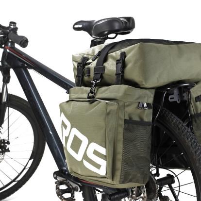 Фото велосумка-штаны на багажник водоотталкивающая Roswheel зеленая