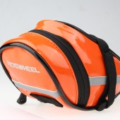 Картинка велосумка под седло Roswheel оранжевая кожа-полиуретан