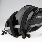 Картинка велосумка под седло Roswheel черная кожа-полиуретан