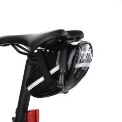 Фото велосумка под седло Roswheel черная кожа-полиуретан