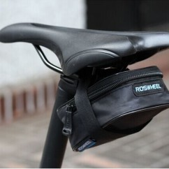 Картинка велосумка под седло Roswheel черная размер L