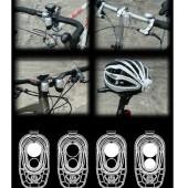 Фото велофонарь передний белый свет Akslen черный