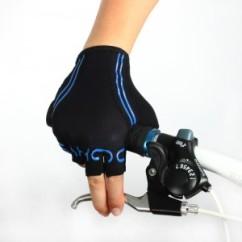 Картинка велоперчатки Sahoo черно-синие размер M
