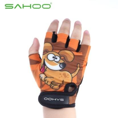 Картинка велоперчатки детские Sahoo коричневые размер L