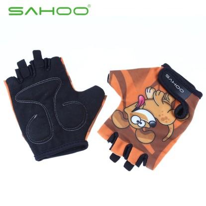 Картинка велоперчатки детские Sahoo коричневые размер XL