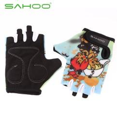 Картинка велоперчатки детские Sahoo голубые размер XL