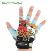 Картинка велоперчатки детские Sahoo голубые