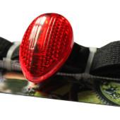 Картинка велофонарь на резинке Salzmann универсальный красный свет