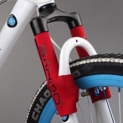 Картинка защита передней вилки для велосипеда Sahoo красная