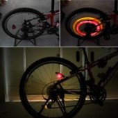 Картинка комплект велофонарей на спицы Xingcheng желтый/красный свет