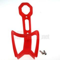 Фото флягодержатель велосипедный на раму красный пластик
