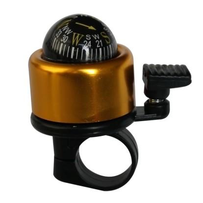 Фото велозвонок с компасом золотистый