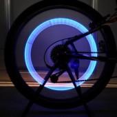 Фото светящийся колпачок на ниппель для велосипеда