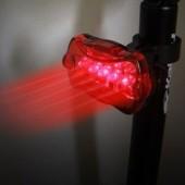Фото велофонарь задний красный свет Xingcheng 5 диодов