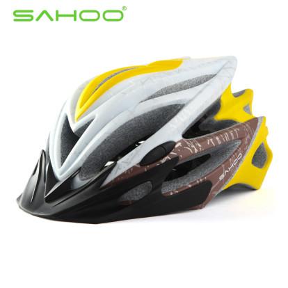 Картинка шлем велосипедный Sahoo 91588-F бело-желтый