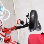 Фото велофонарь задний красный свет на солнечной батарее Xingcheng