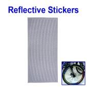 Картинка светоотражающие наклейки на обод для велосипеда серебристые