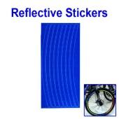 Картинка светоотражающие наклейки на обод для велосипеда синие