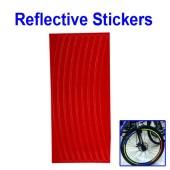 Картинка светоотражающие наклейки на обод для велосипеда красные
