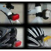 Фото держатель для велофонаря нв липучке Akslen универсальный