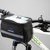 Фото велосумка на руль с отделением для карты Roswheel черная