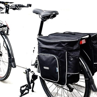 Фото велосумка - штаны на багажник Roswheel 30L черная