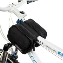 Фото велосумка на раму водонепроницаемая Roswheel черная