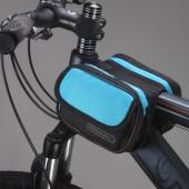 Фото велосумка на раму водонепроницаемая Roswheel синяя