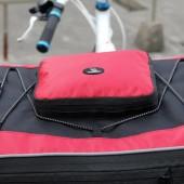 Фото велосумка-штаны на багажник походная Roswheel черно красная объем 68L