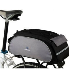 Фото велосумка на багажник Roswheel черная, объем 13L