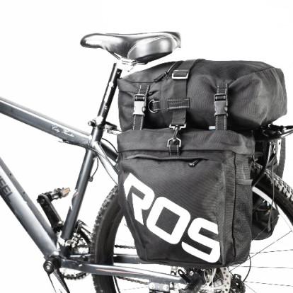 Фото велосумка-штаны на багажник водоотталкивающая Roswheel черная